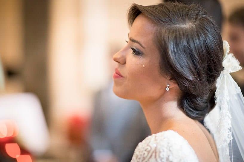 Lágrima de la novia Boda en Colegiata Santa María a Real do Sar