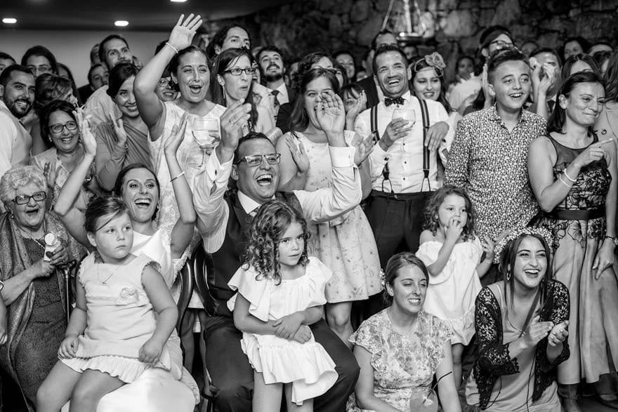 Proyeccion durante una boda en el Pazo do Tambre