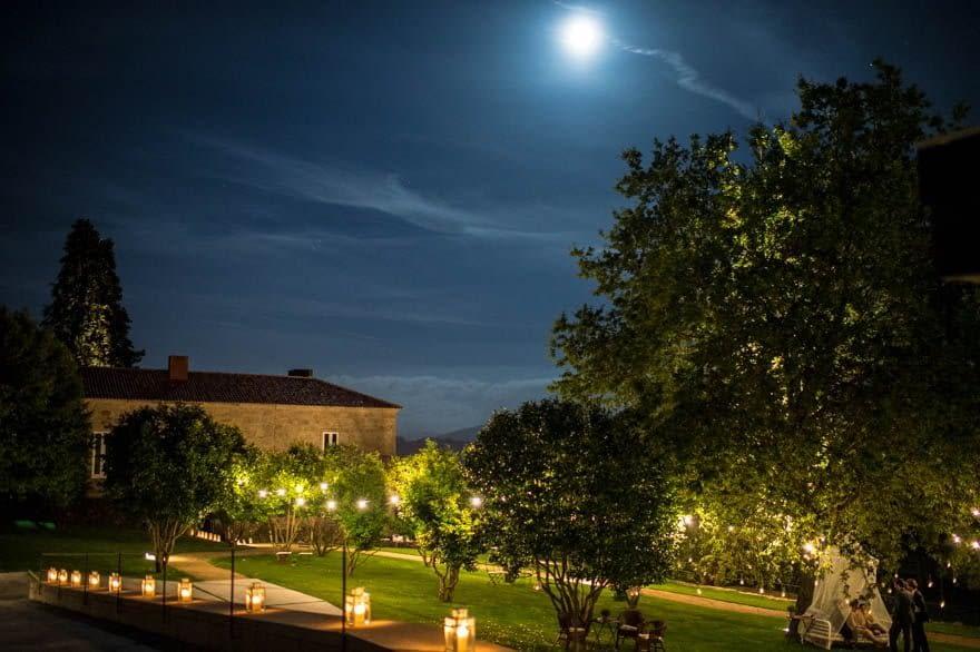 Noche en el Pazo de Cea durante una boda