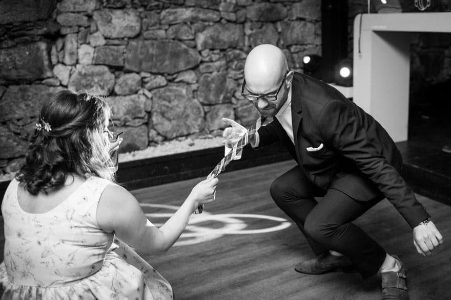 Baile en el Pazo do Tambre con música de Cabina móvil de Boiro