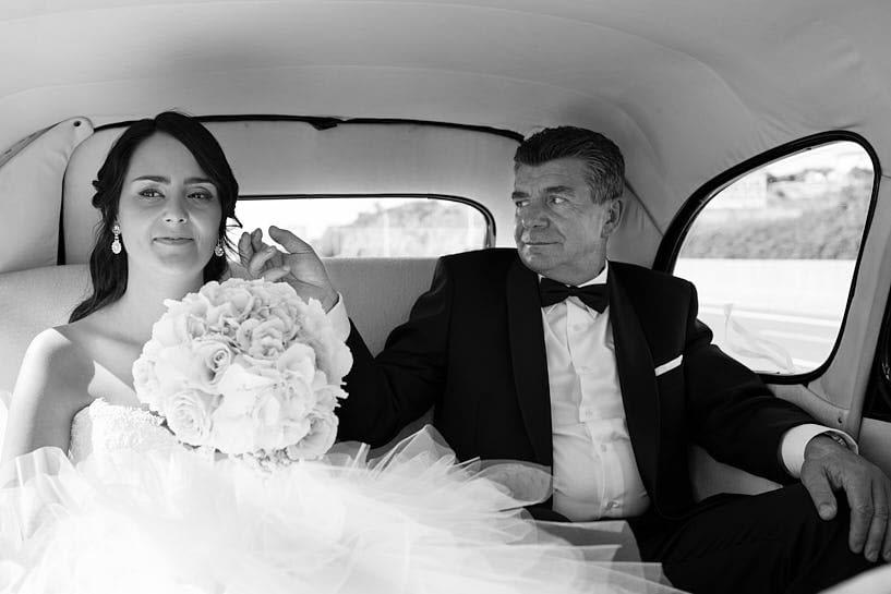 Citröen 11 de Ya Car Novia y padrino en su boda