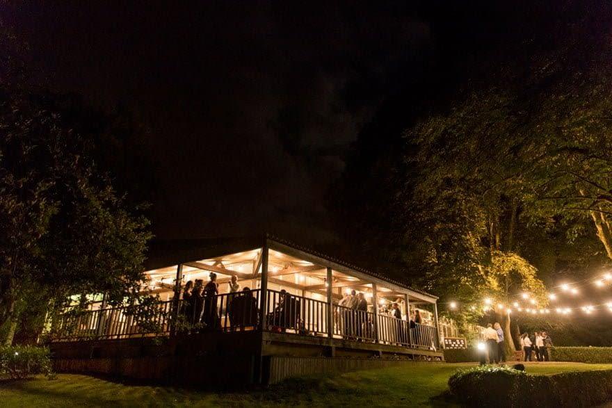 Pazo de Orto de Josmaga, imagen nocturna
