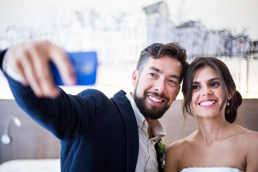 Novia en el Eurostars Blue de A Coruña el día de su boda