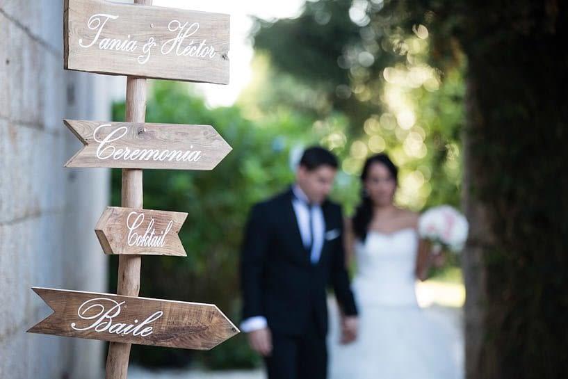 Cartel de boda para señalización