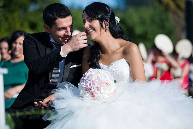 Ceremonia de boda civil en el Pazo de Santa Cruz de Mondoi