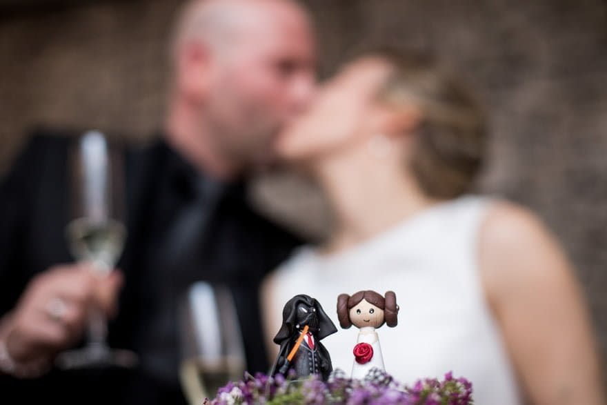 Starwars muñecos de tarta de boda con novios darth vader