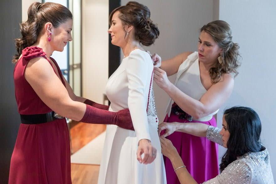 vestido de novia de Cristina Valenzuela Atelier de Majadahonda Madrid