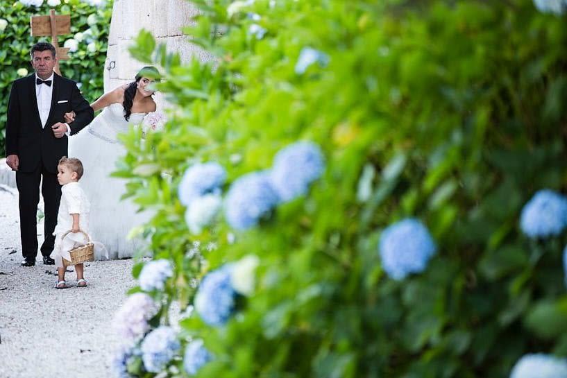 Entrada de la novia en el Pazo de Santa Cruz de Mondoi