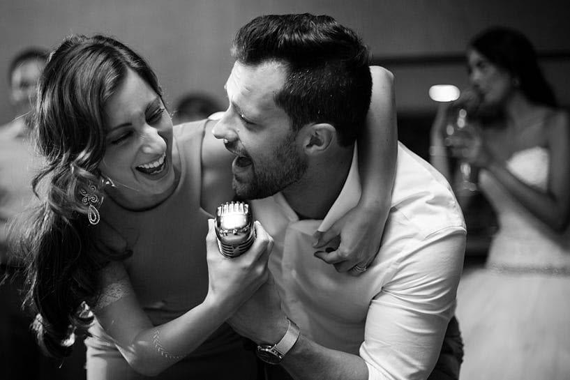 Karaoke en una boda el Pazo de Santa Cruz de Mondoi
