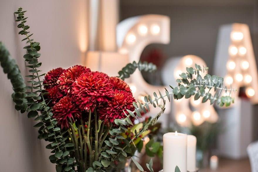 Detalle de Decoración de boda en la Finca Trece Pinos