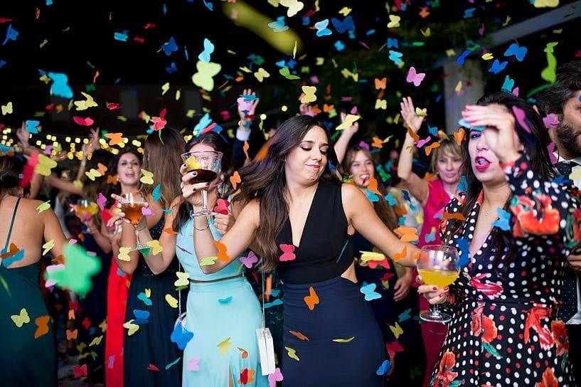 Baile durante boda en el Pazo Baión