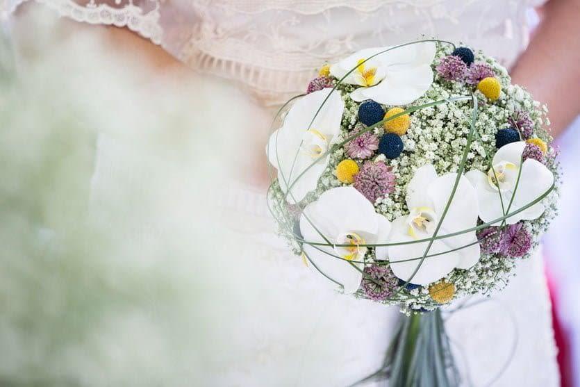 Ramo de novia de Cris Camba diseño floral.