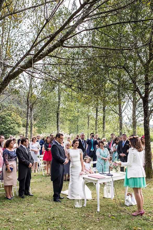 Ceremonia de boda civil en el Pazo do Tambre