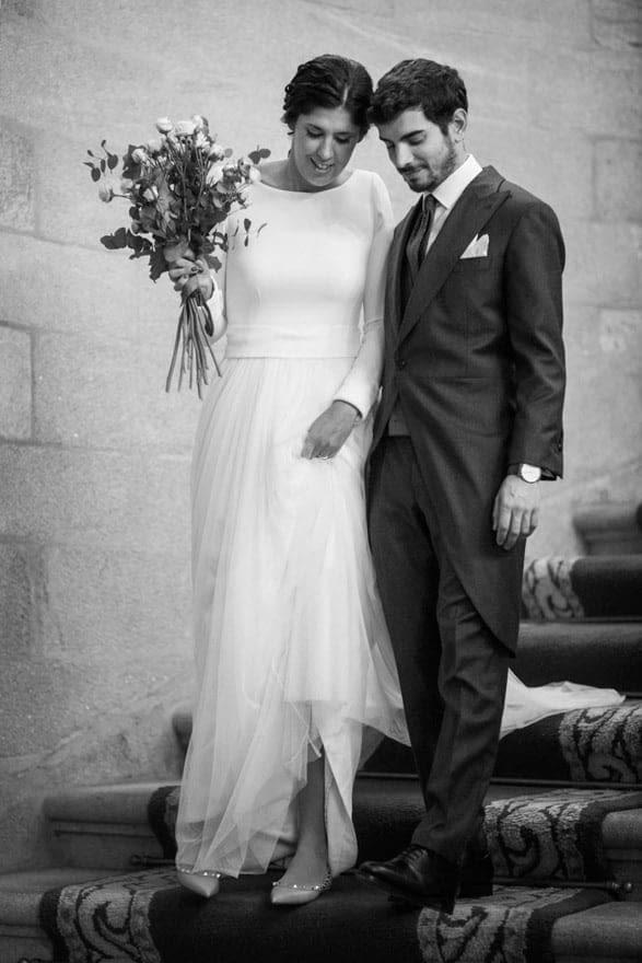 vestido de novia de Sophie et Voilà y zapatos de Valentino