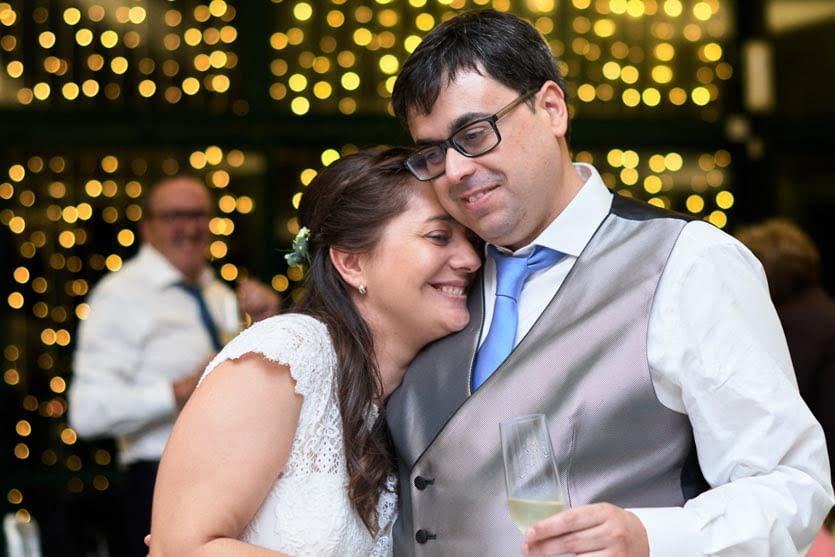 Novios en su boda en el Pazo Montesclaros