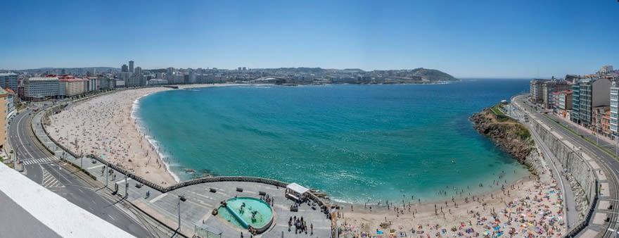 Vistas desde el Hotel Meliá María Pita de A Coruña