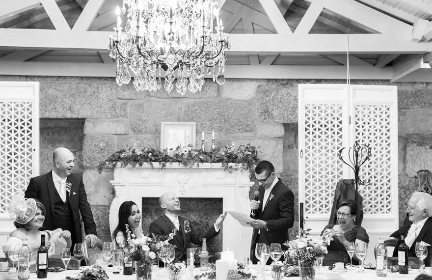 Discurso durante una boda en el Salón de Los Olivos del Pazo do Tambre