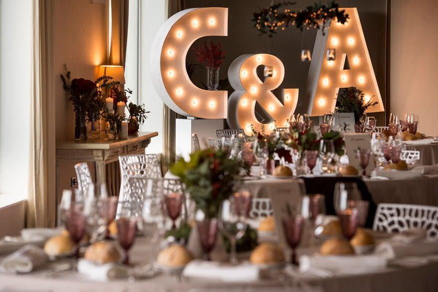 Decoración de boda en la Finca Trece Pinos
