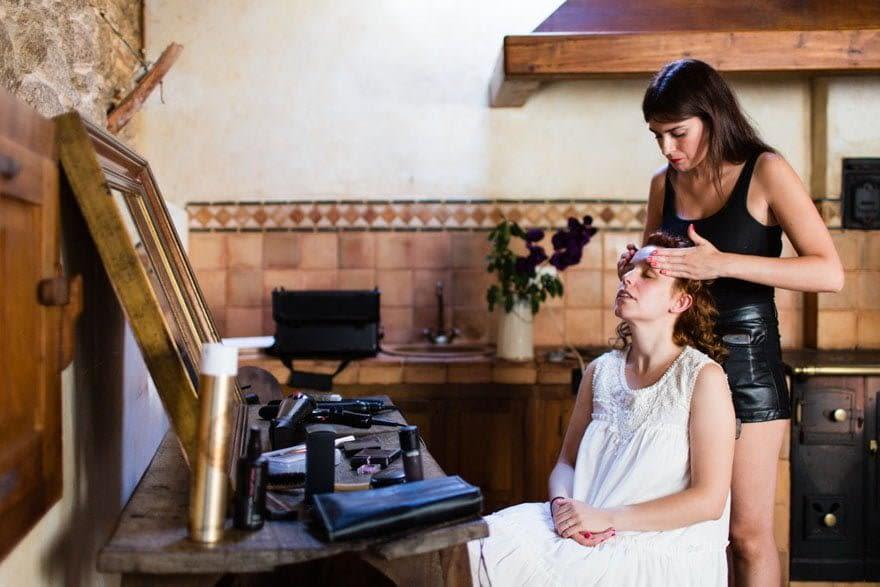 La peluquería de ambos novios y el maquillaje de Marta por Corta Cabeza de Madrid