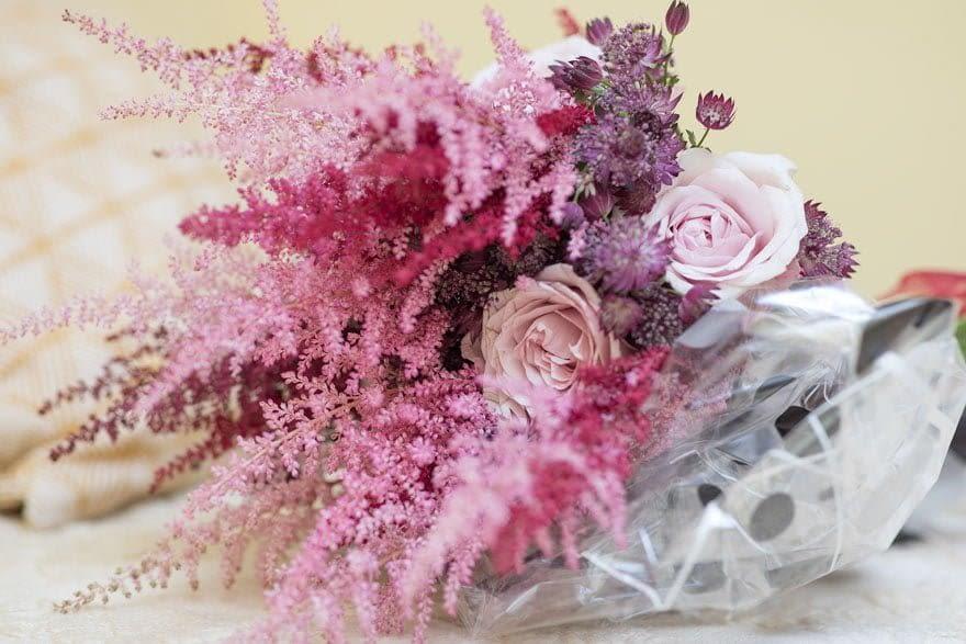 Ramo de novia de la floristería Clivia Isabel de Rodeiro
