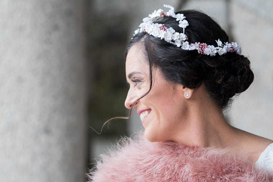 tocado de la boutique Bride&Guest de Santigo de Compostela