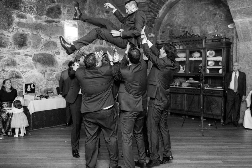 Fotoperiodismo de boda en el Hotel monumento San Francisco de Santiago de Compostela