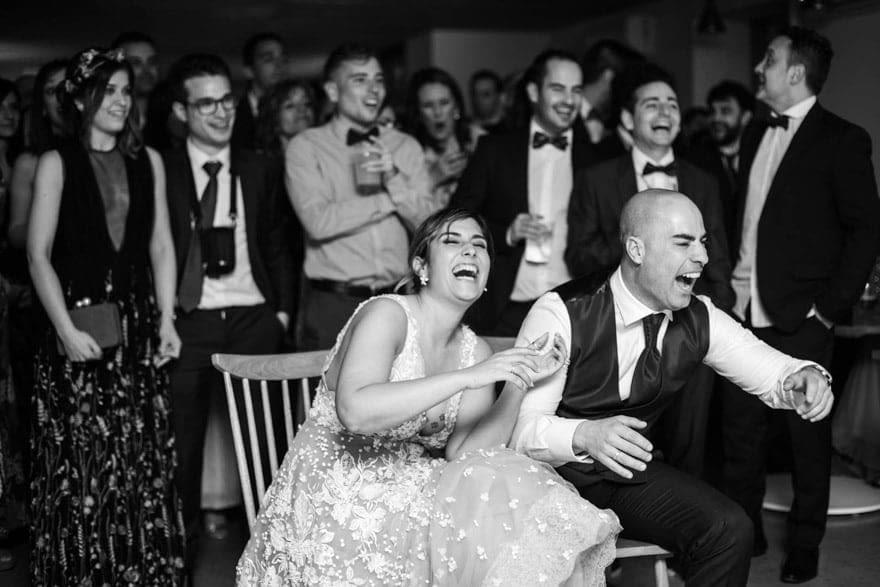 proyección durante una boda en la Finca da Rocha