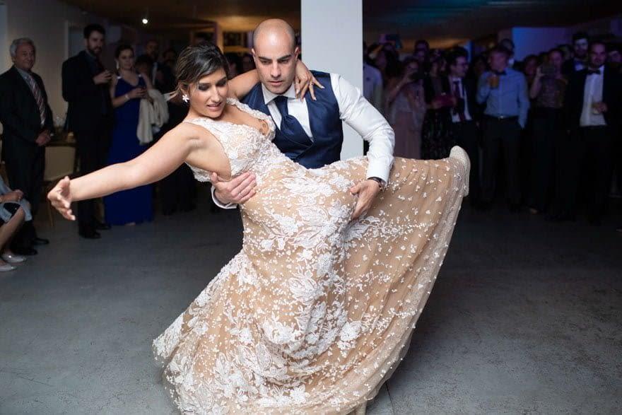 baile de novios durante una boda en la Finca da Rocha