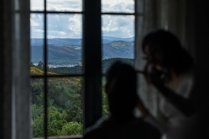 Vista de Verín desde Sarreaus durante una boda