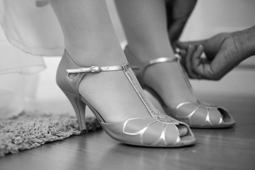 Los zapatos de la firma Rachel Simpson los eligió en Gardenia