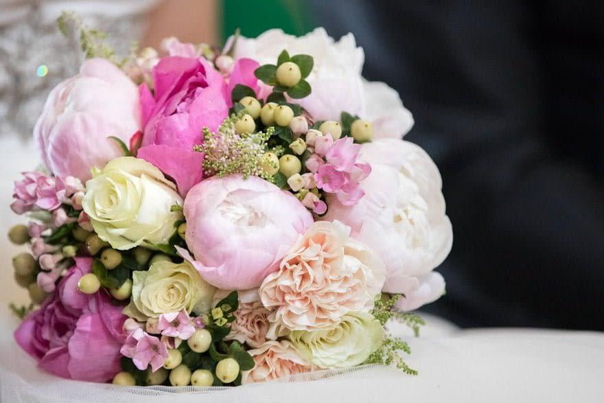 ramo de novia de la floristería Zarcillos de A Estrada