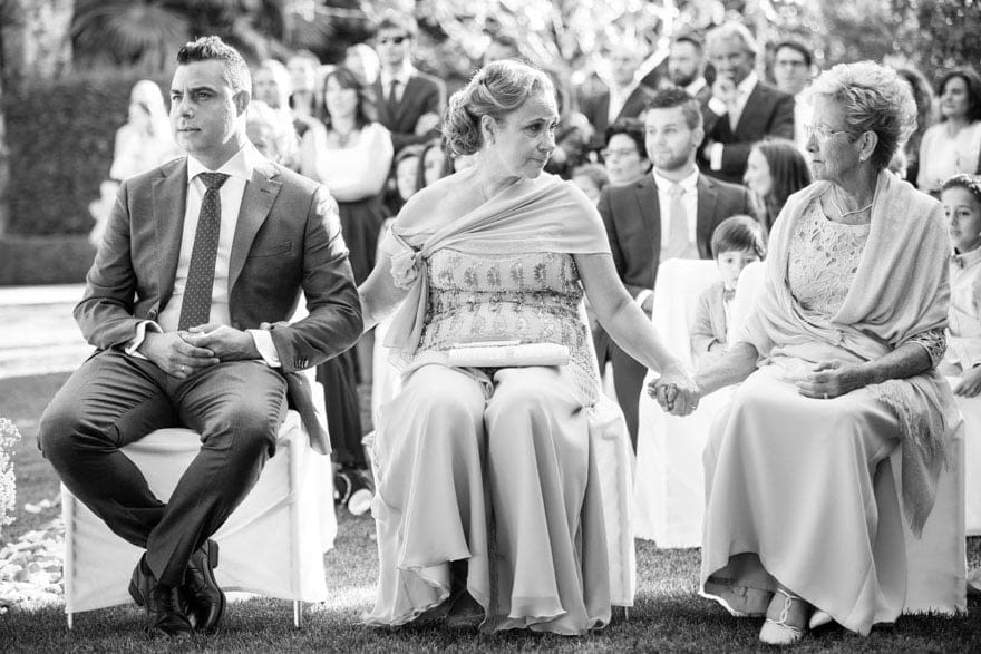 Ceremonia civil de una boda en Quinta Canaima de Oleiros