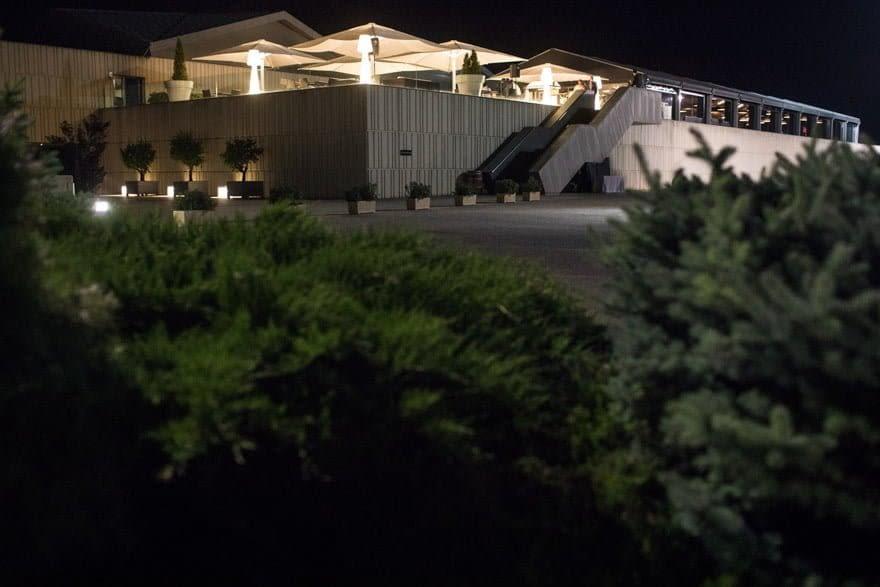 Noche durante una boda en las bodegas Cepa 21 en Castrillo de Duero, Valladolid