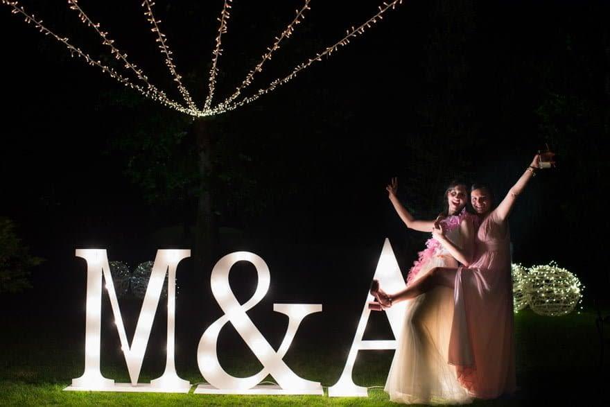 Decoración durante una boda del pazo El Castriño por Más que arquitectura