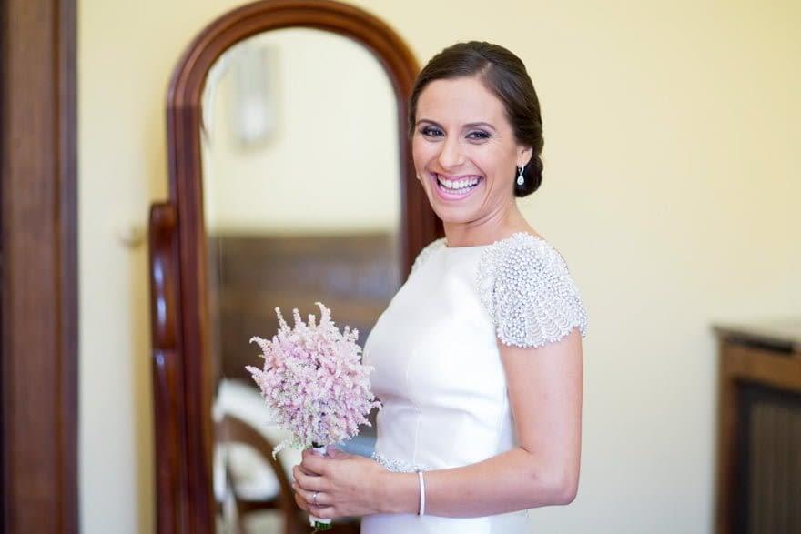 El ramo de novia fue elaborado por la Floristería Sementa de A Coruña