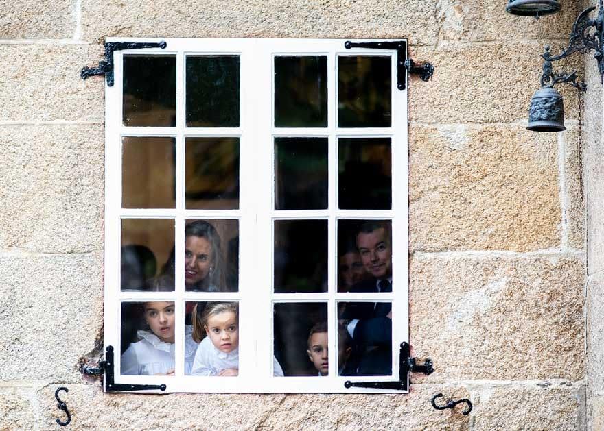 Esperando la llegada de la novia en el pazo de Vilaboa